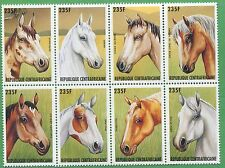 Lot of 25 1996 Central African Republic Stamps 1137 Cat Value Horse Breeds
