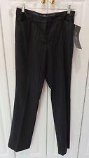 NWT Spanner Women's Slacks Boot Cut Trousers Black w/ Gold Metallic Stripes Sz 8