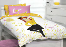 Emma The Wiggles Quilt Cover Set SINGLE Bed Girls Pink Stars Heart Bows Emma