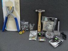 ProvoCraft Eyelet Rivet Hammer Dritz Snap Pliers Kit Accessory Letters Brads MM