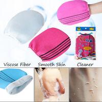 Smooth Skin Cleaner Exfoliating Towel Shower Scrubber Body Rub Bath Glove