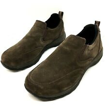 LL BEAN Mens 9 EE Wide | Waterproof Brown Suede | Slip On Loafers | COMFORT MOCS