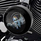Black Horn Cover for Harley Touring Models from 93-17 Skeleton Skull Finger Fu