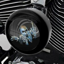 Black Horn Cover for Harley Touring Models from 93-17 Skeleton Skull Finger Fu