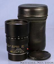LEICA LEITZ 90MM SUMMICRON-M F2 11136 BLACK M LENS W/ CASE +CPS