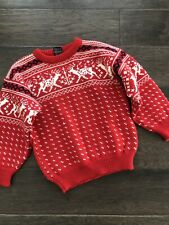 DALE OF NORWAY Reindeer Christmas Wool Sweater Boys 10