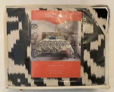 Duvet Cover Set - Opalhouse - Mallorca Ikat, Tan Black Pattern - Full/Queen, New