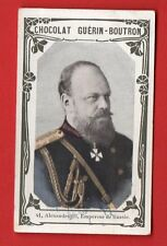RUSSIA RUSLAND EMPEROR ALEXANDRE lll WITH MEDAL VINTAGE CARD 628