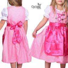 """Wunderschönes, 3-tlg. Kinder Dirndl Kinderdirndl """"rosa"""" Gr.86-164 NEU!"""