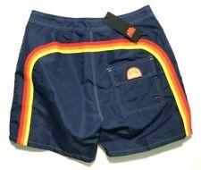 Sundek Navy Blue Contour Waist Shorts Bermuda Sea Mod. 007 Swim Trunks Men's 28