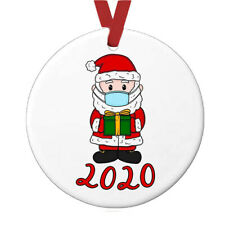 2020 Christmas Round Ornament Pendant Family Xmas Tree Hanging Home Party PVC AU