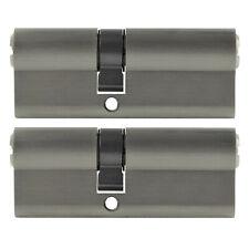 2x Profilzylinder 70mm 30/40 +10 Schlüssel Tür Zylinder Schloss gleichschließend