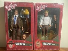 NECA: A CHRISTMAS STORY RALPHIE/OLD MAN ACTION FIGURES LEG LAMP. Some Box Wear