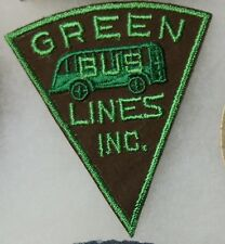 """Green Bus Lines Inc. Bus Driver Patch - Vintage - 4"""" x 3-1/2"""" Green Embroidery"""