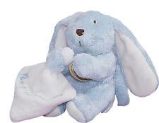 Peluche Lapin Rabbit Bunny Lièvre Hase MOUCHOIR Doudou Et Compagnie bleu ATTACHE