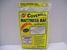 """Mattress Bag Heavy Weight Queen/Full 70"""" x 92"""" - Tough 2 mil plastic - NEW"""