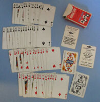 Whitman Mini Playing Cards Teddy Bears Blue NO 8150 Miniature Complete Vintage