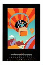 "4""x6"" Postcard Poster card 17th Albuquerque Balloon Fiesta 1988 Hot Air Repro NM"