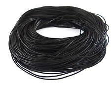 3 mètres de cordon en cuir 1,5 mm de couleur noire-cocm9