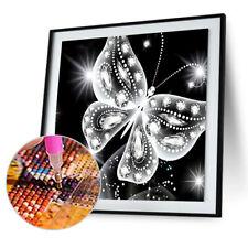 Rhinestones Butterfly Painting 5D Diamond Embroidery DIY Cross Stitch Kit Decor