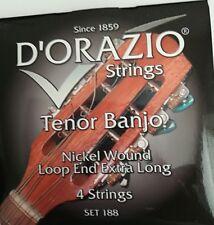 D'orazio Tenor Banjo Nickel Wound Loop End Extra Long