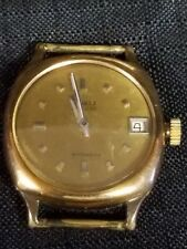 RARE VINTAGE BUREN HASTE DE LUXE AUTOMATIC KEYSTONE 10 YR GOLD PLATED CASE WATCH