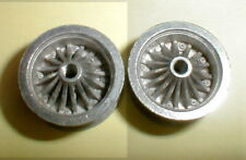 "Dynamic Turbine ""Sport"" Polished Wheels 1 Pair Slot Car 5:40 Thread 1/8"" Nos"