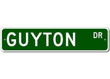 GUYTON Street Sign - Personalized Last Name Sign