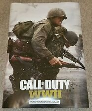 New Official Activision Call Of Duty COD WWII Pre-Order Double Sided A2 Poster