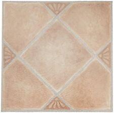 20 Vinyl Floor Tiles Set Nexus Self Adhesive 12x12 Peel Stick Beige Clay Diamond