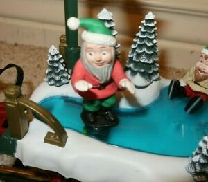 Holiday Express Tanker REPLACEMENT ICE SKATING ELF Animated Magnetic New Bright