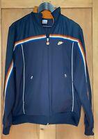 Nike Men's Vintage Full Zip Track Suit / Sweat Jacket - Size Large Navy