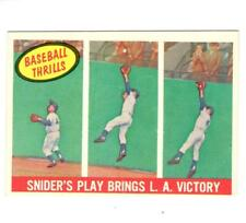 1959 TOPPS #468 DUKE SNIDER'S PLAY BRINGS L.A. VICTORY