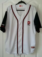 """Molson Beer Canada """"I Am Canadian"""" Baseball Jersey Shirt Embroidery Large L"""