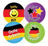 144 x German praise - 30mm Children Reward Stickers - School Teachers Or Parents