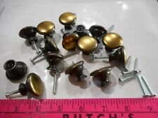 10 Brass Knobs NOS Dresser Drawer Handle Pull Furniture Hardware Vintage Cabinet