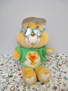 Care Bears Plush Stuffed Champ Bear by Kenner, American Greetings, 1985