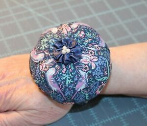 Liberty of London Fabric Wrist Pin Cushion-Memory Foam