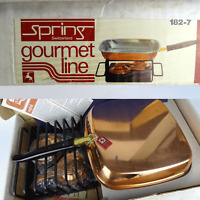 Spring Gourmet Grill Set Pfanne Rechaud Copper Design 60er NEU / NEW vintage 60s