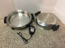 American Royalty Liquid Core Electric Skillet Frying Pan Stainless Steel TESTED!