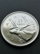 *** CANADA  25  CENTS  2003P  ***  SPECIMEN  *** FROM  MINT  SET ***