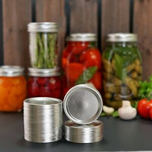 50-Count, Wide Mouth Canning Lids for Ball, Kerr Jars Split Type Metal Mason