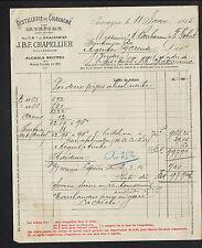 """CHAVAGNE prés LA CRECHE (79) DISTILLERIE """"J. BRACONNIER / CHAPELLIER Succ"""" 1915"""