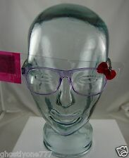 Hello Kitty Sanrio red bow purple eyeglasses novelty eye glasses