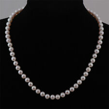 Real Freshwater 6-7mm A Pearl Necklace & Sterling Silver Clasp