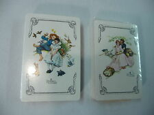 "Vintage Norman Rockwell ""lovers"" playing cards.set of 2 decks.new"