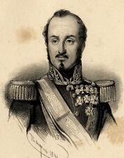 Portrait de Baldomero Espartero - Lithographie originale XIXème