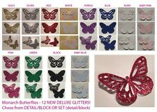 Butterflies (Monarch) DELUXE GLITTER PAPER Multi Listing 30 Pieces! NEW COLOURS