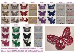 Butterflies (Monarch) DELUXE GLITTER PAPER Multi Listing 30 Pieces LIMITED STOCK