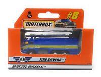 Matchbox MBX Superfast 1999 No 8 Airport Fire Truck Fire Savers ROW Version box